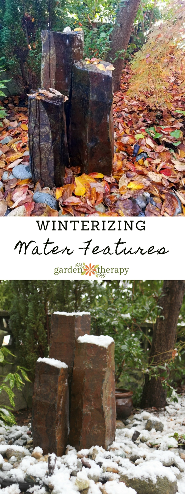How to winterize a water feature
