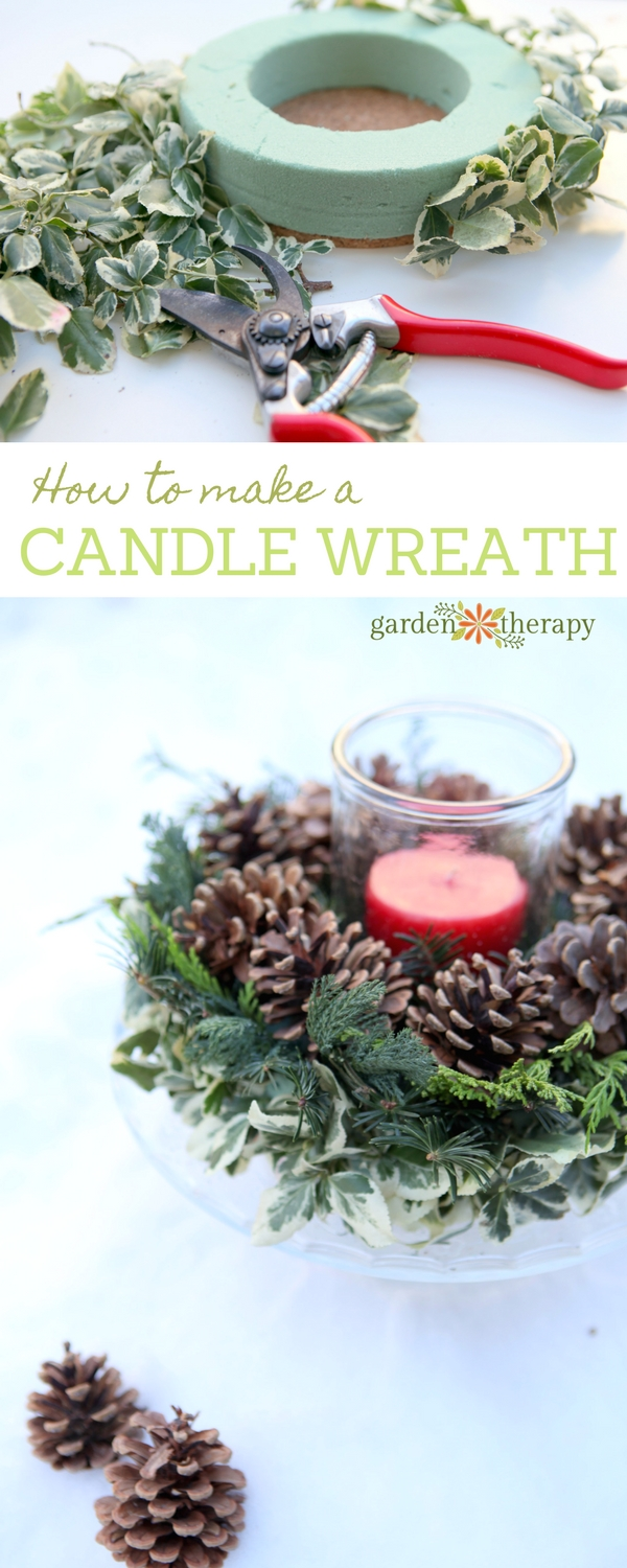 How to make a natural, elegant DIY Christmas candle wreath