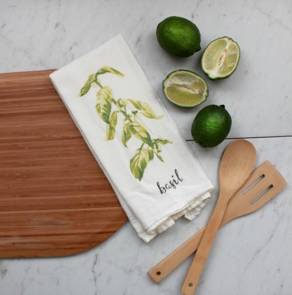 garden-inspired gifts: herb tea towels