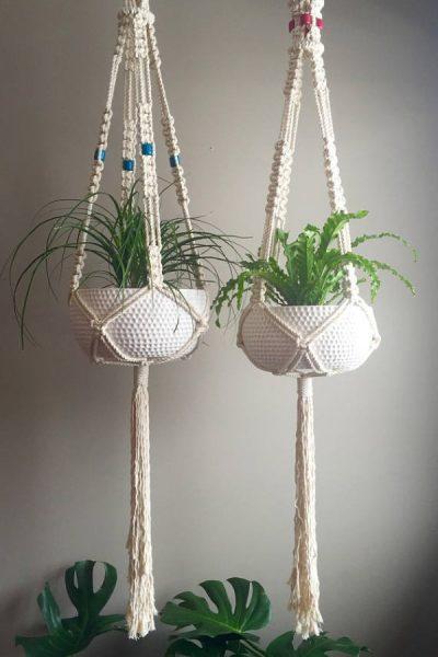 garden-inspired gifts: macrame plant hangers