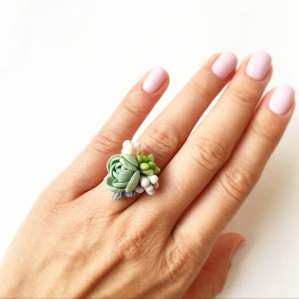 garden-inspired gifts: succulent jewelry