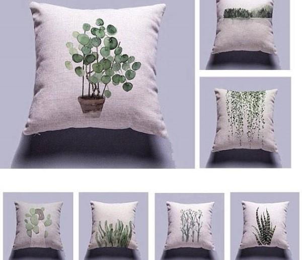 Garden-inspired gifts: succulent pillows