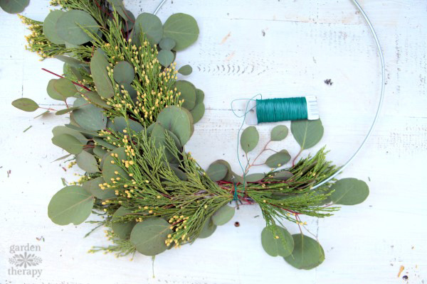 Aromatherapy wreath tutorial