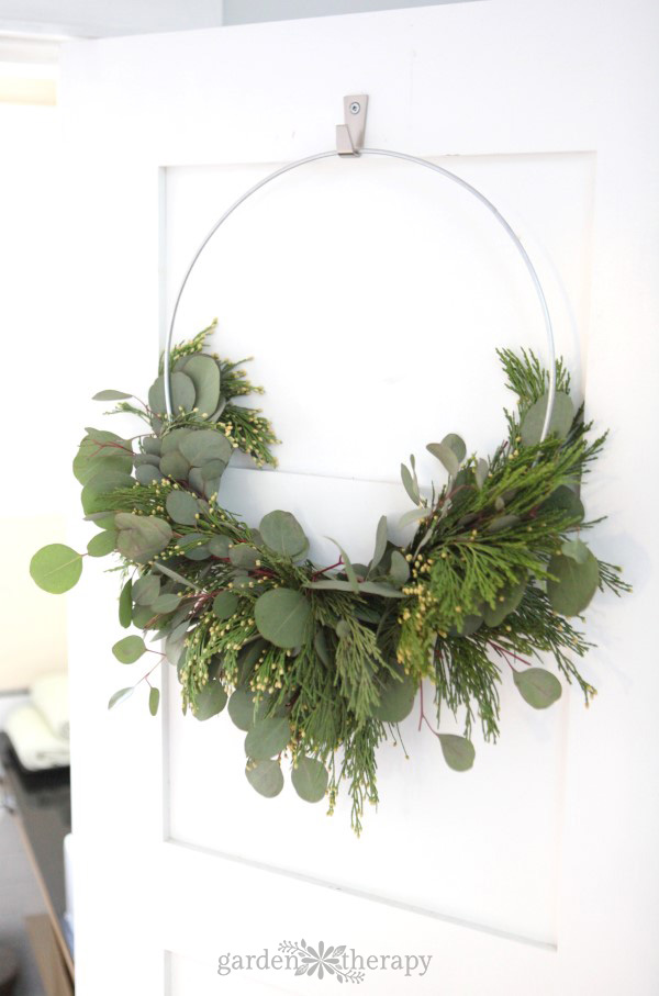 Scent your home with this cedar and eucalyptus wreath
