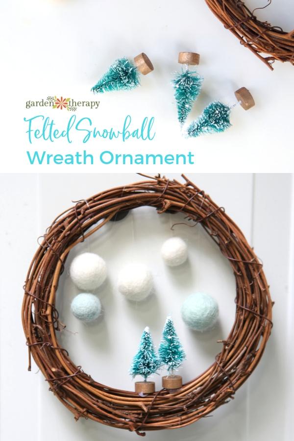 Make a Festive Snowball Wreath