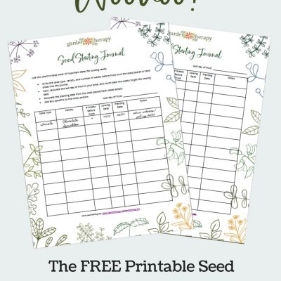 Get Growing with this FREE Printable Seed-Starting Journal