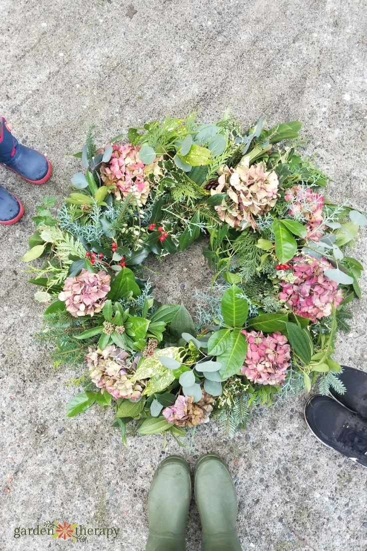 Happy Holidays from Garden Therapy Wreath