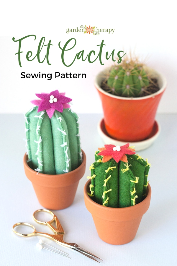 Felt Cactus Sewing Pattern