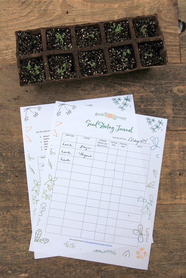 Track your seedlings with this seed-starting journal