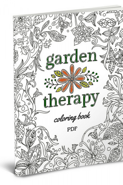 The Garden Therapy Coloring Book