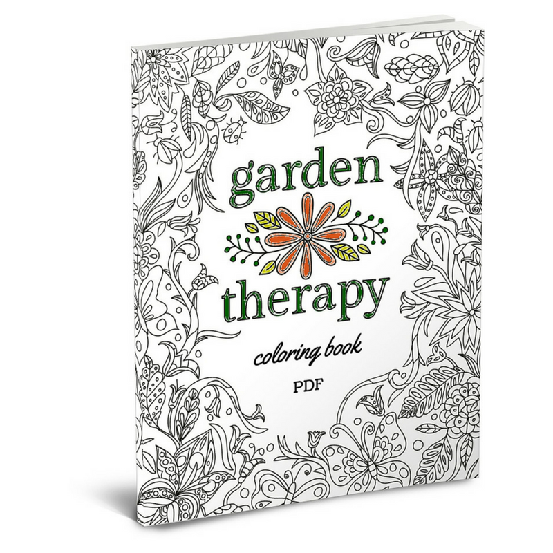 The Garden Therapy Coloring Book - Garden Therapy