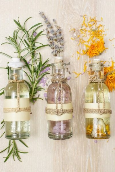 Herb Crafting with Rosemary Lavender and Calendula