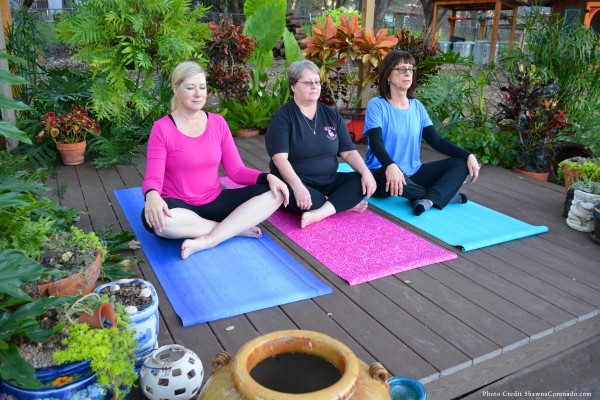 A yoga garden for wellness