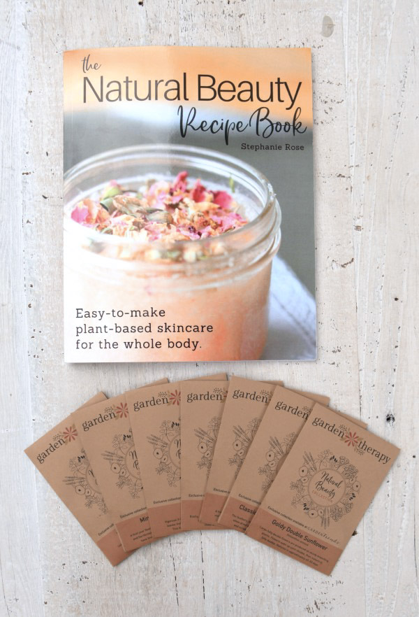 the natural beauty recipe book and plant-based beauty seed series