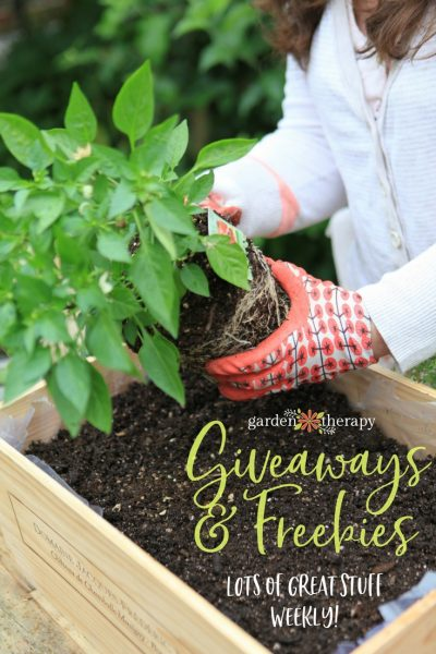 Garden Therapy's Giveaways and Freebies Page is full of contests and resources