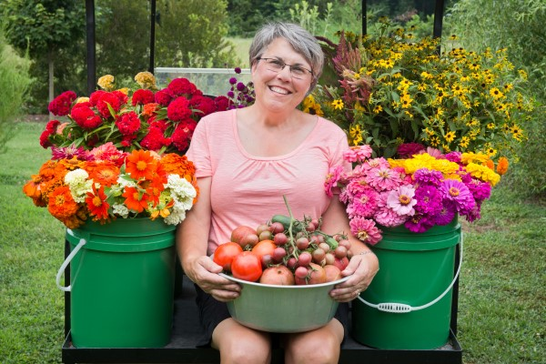 Lisa Ziegler, author of Vegetables Love Flowers