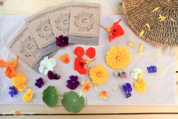 Edible Flowers Seed Collection Garden Therapy
