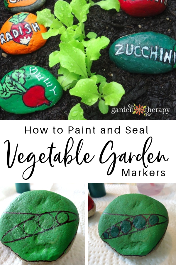 Painted Stone Vegetable Garden Markers
