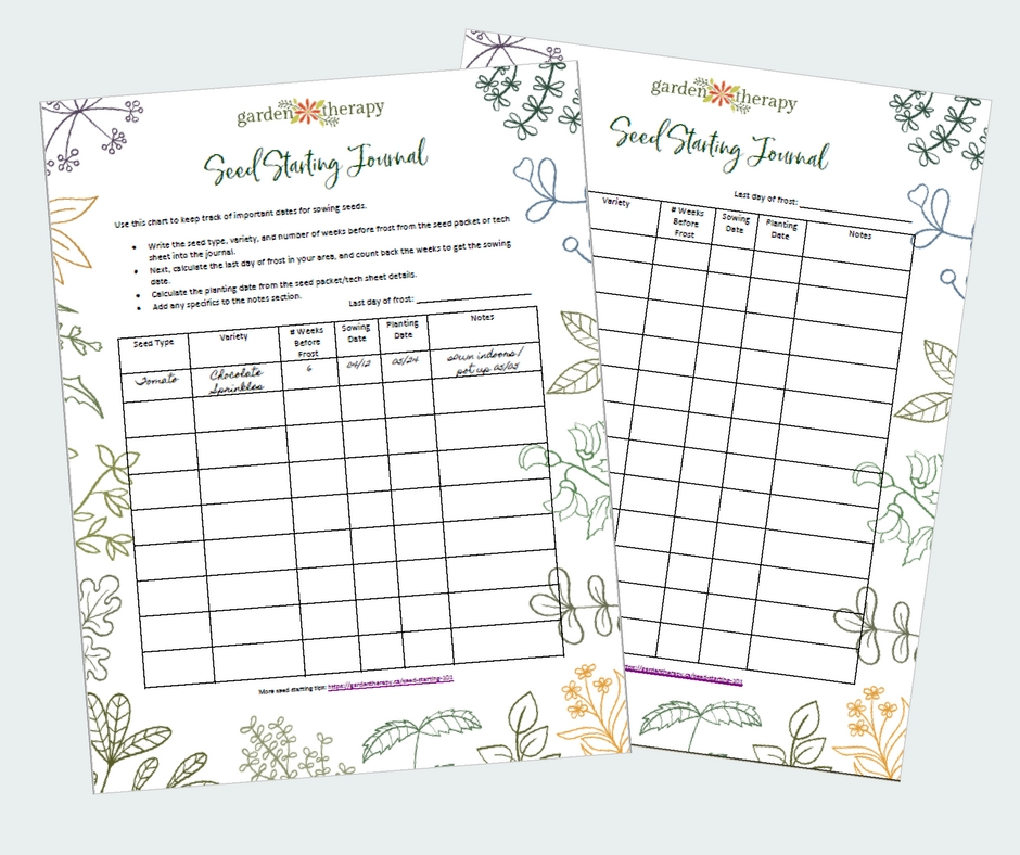 Free Seed Starting Printable Journal Pages
