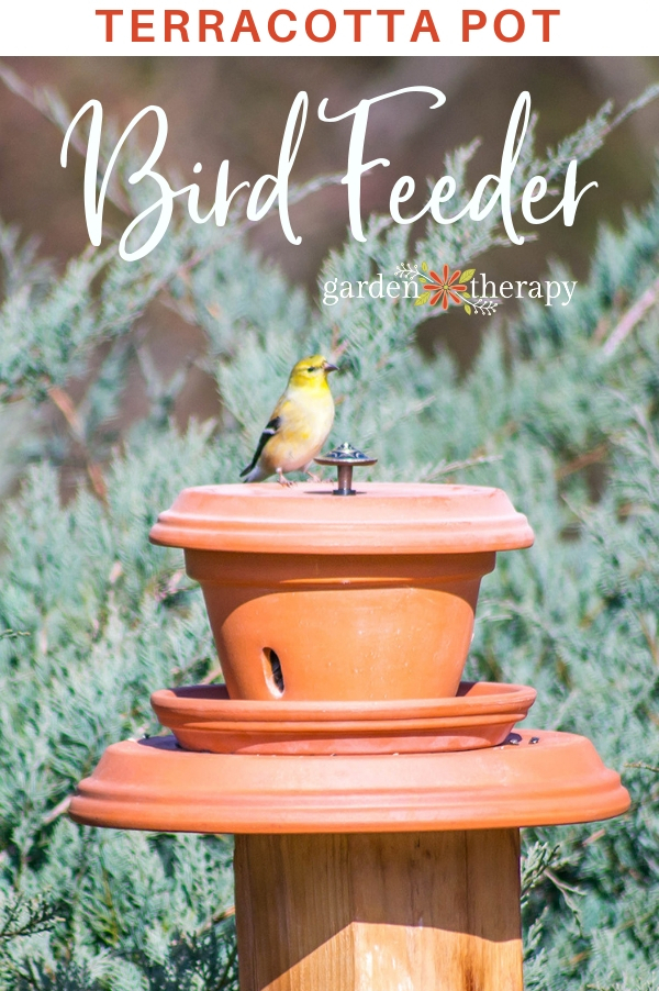 Terracotta Pot Bird feeder DIY
