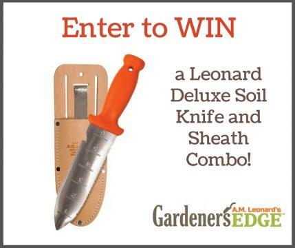 Enter to win a Leonard Delux Soil Knife and Sheath Combo