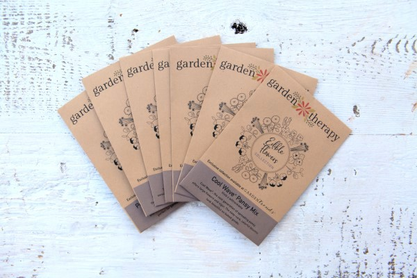 edible flowers Garden Therapy seeds