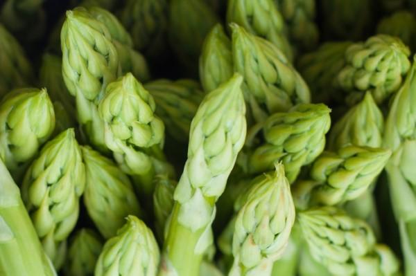 Homegrown asparagus from the perennial vegetable garden