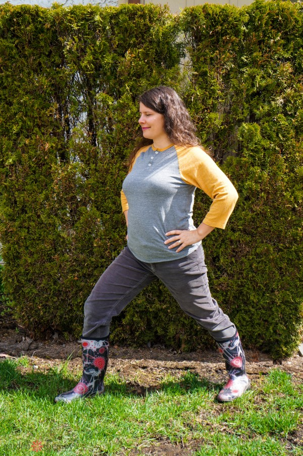 A pose to help reduce pain and stiffness in the garden