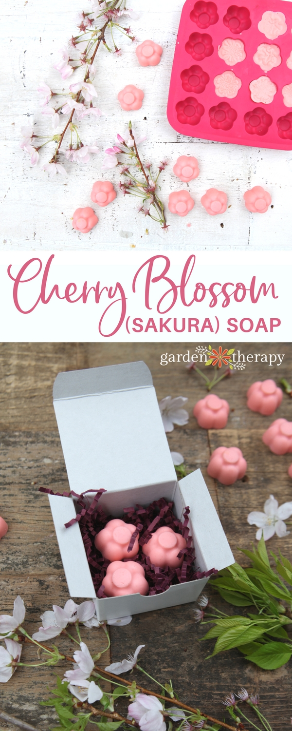 How to Make Sakura Cherry Blossom Melt and Pour Soap and package it