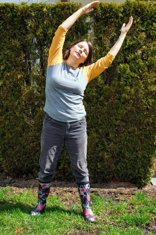 gentle stretches for gardeners: stand tall like a tree