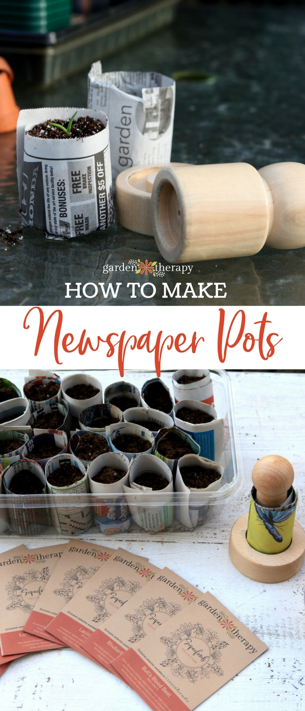 how to make newspaper pots for seedlings