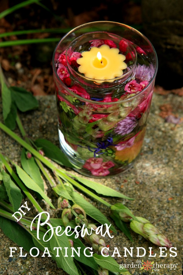 Set Summer Nights Aglow with Beeswax Flower Floating Candles