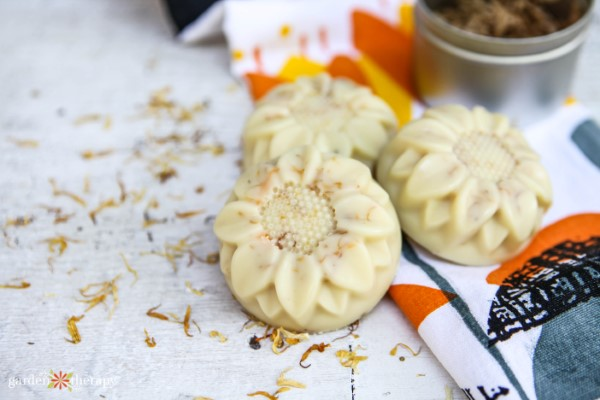 calendula lotion bars for summer skincare