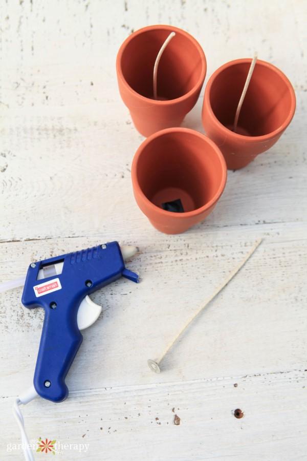 flowerpot candle supplies