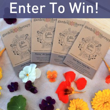 enter to win the edible flower garden kit