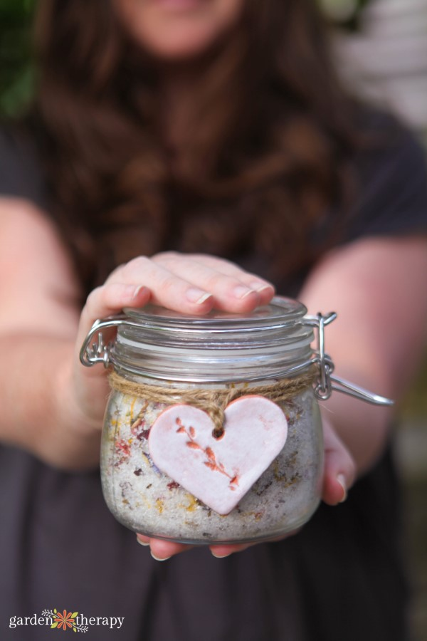 Herbal Foot Soak with Clay Tag Gift Idea
