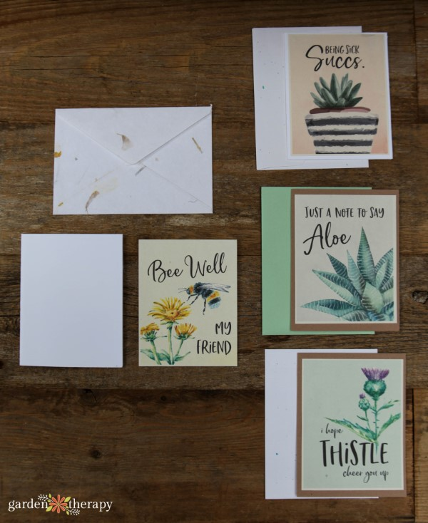 Printable Sympathy Cards for Plant Lovers