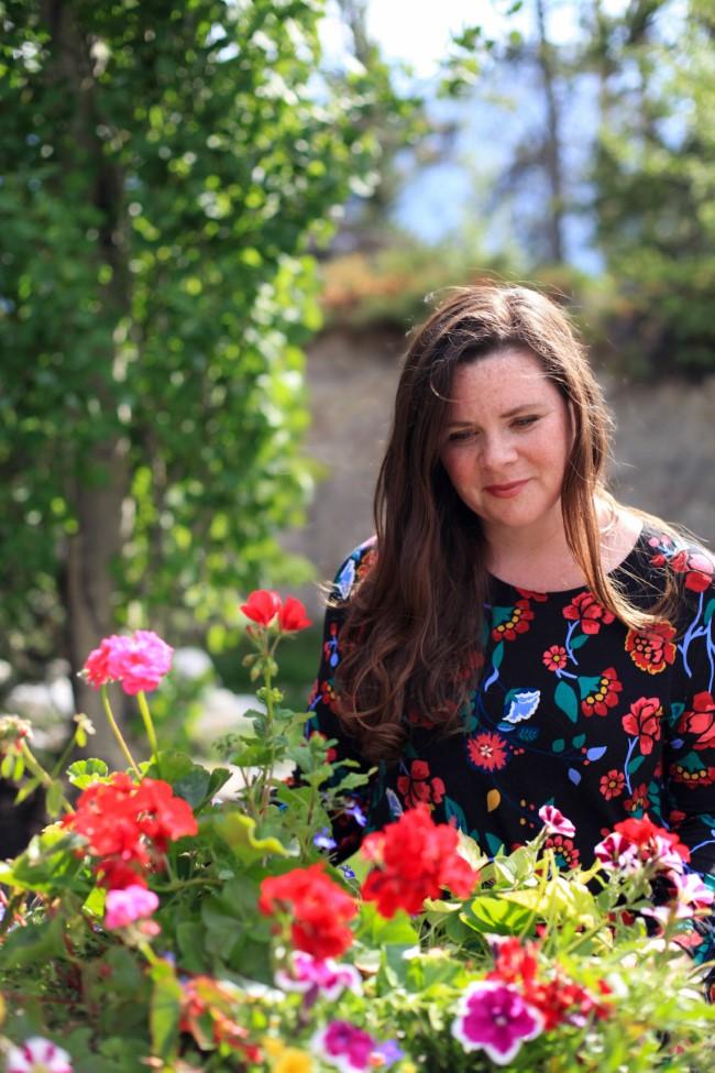 Stephanie Rose in the garden