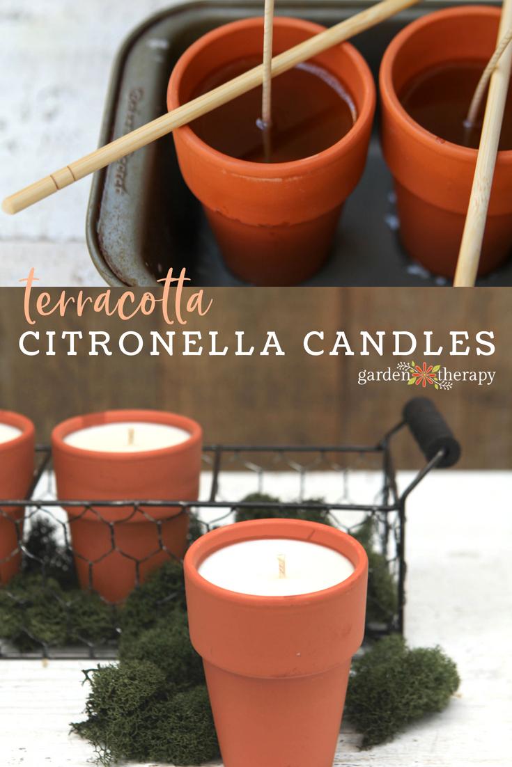Terracotta citronella candles