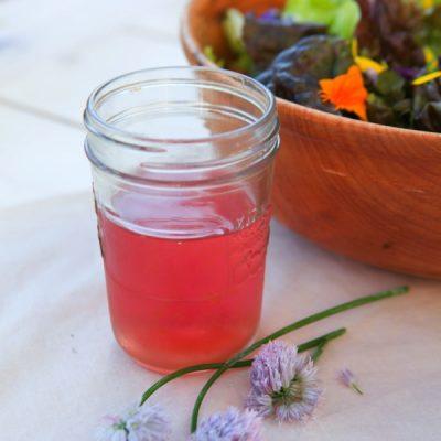 Chive Blossom Vinegar and Vinaigrette