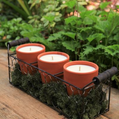 Bug Off, Naturally: Terracotta Pot Citronella Candles