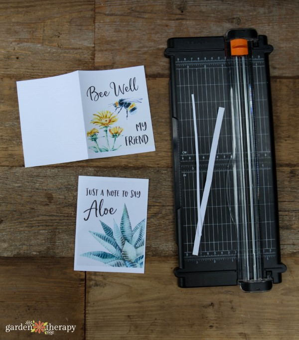 cutting and folding cards