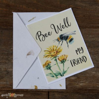 Punny Printable Sympathy Cards for Plant-Lovers