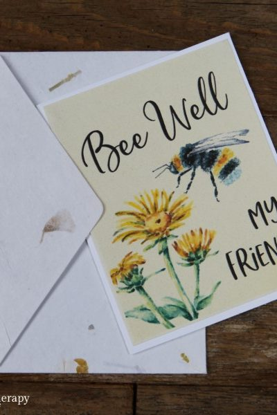 bee sympathy card to print and give to someone who needs it