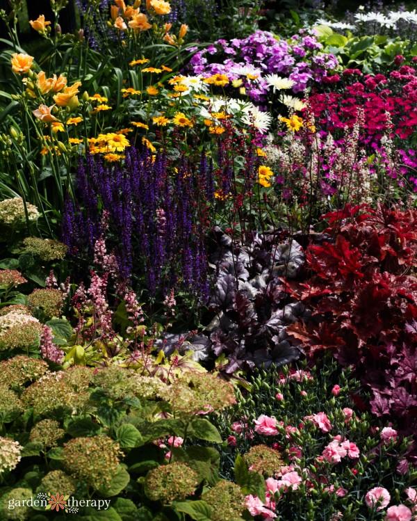 flowering perennial garden