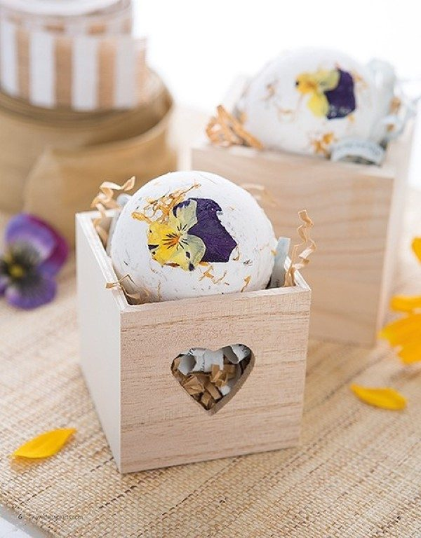 floral bath bombs
