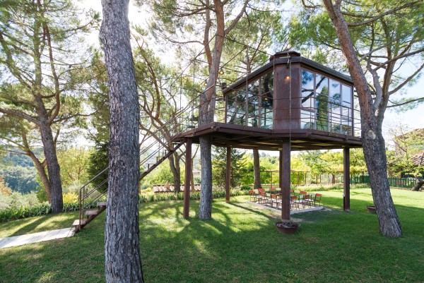 treehouse with wide windows