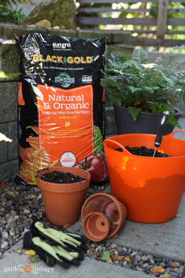 fall container tips