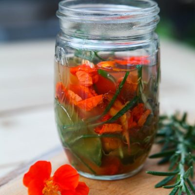 Fresh Herb and Nasturtium Infused Vinegar Recipe