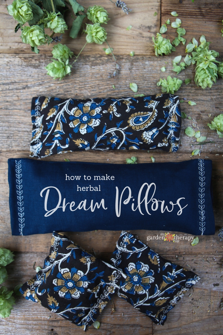 How to Make Herbal Dream Pillows. Pillows stuffed with dried herbs to promote sleep.